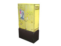 3d model street electrical box