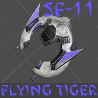 space ship flying tiger fbx