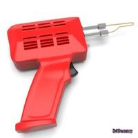 3d model of soldering gun