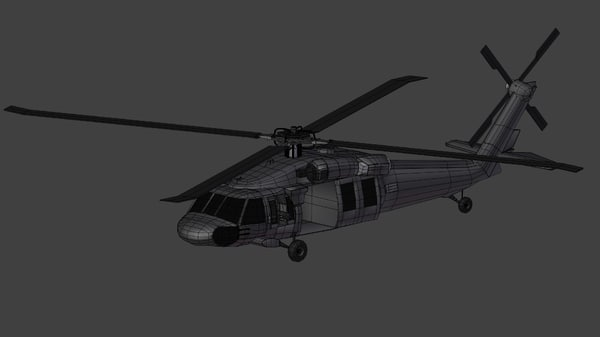 maya black hawk uh-60 helicopter - Black Hawk UH-60... by natholas
