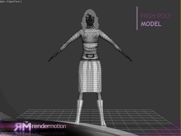 d6 p2 woman rigged biped 3d model - D6_P2_WomCharacter_PersMujer... by danielkenobi