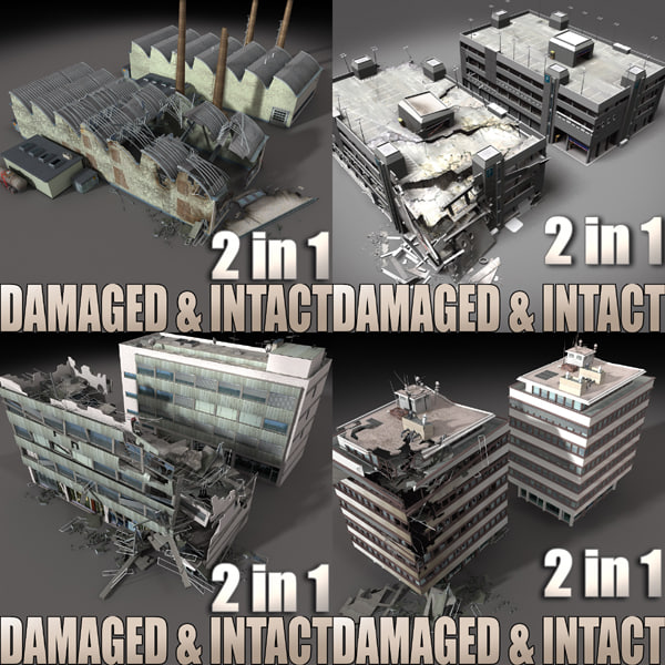Mega Intact_Destroyed Building Collection