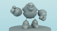 3ds max chubs robot modeled
