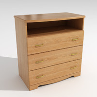 chest drawers 3d 3ds