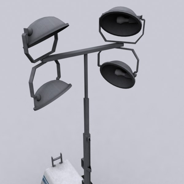 3d mobile construction light tower - Mobile Construction Light Tower... by CJL3D