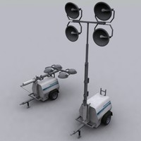 3d mobile construction light tower