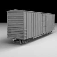 railroad box car 3d lwo