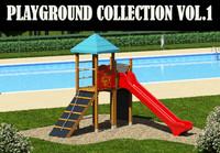 wooden toys parks 3d model
