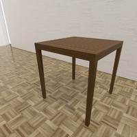 urban dining table 3d max