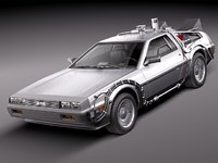 3d delorean dmc-12 sport future