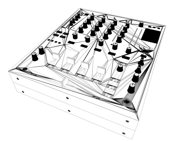 3d pioneer djm 850 dj mixer