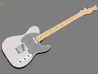 fender telecaster guitar 3d max