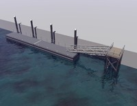 marine floating dock 3d 3ds
