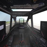 3d ka-50 cockpit