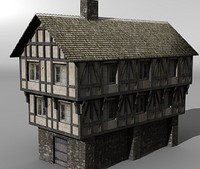 maya medieval half-timber house