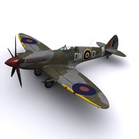 3ds max supermarine spitfire fighter mk