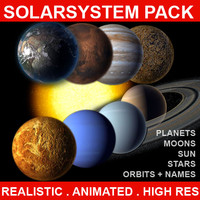 3ds max planets solar solarsystem