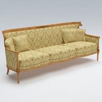 3d sofa old fashioned