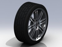 15 opel wheel tire 3d 3ds
