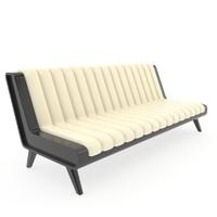 sofa modern armless 3d model
