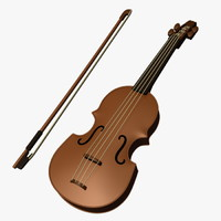 Cartoon Violin