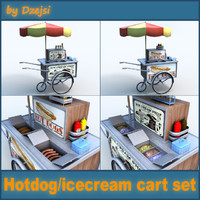 Hotdog / icecream carts collection