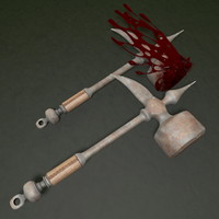 3d model hammer blood