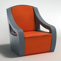 realistic armchair 3ds
