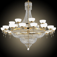 3d model crystal chandelier big