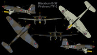 rare blackburn firebrand tf-5 3ds