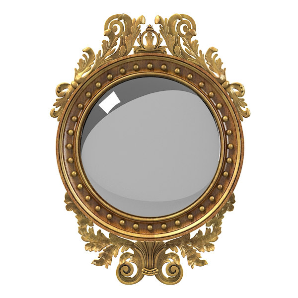 Girandole mirror carved 3d model for Mirror 3d model
