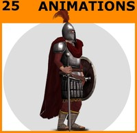 3d knight animations