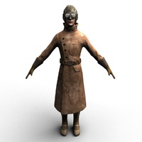 maya rigged ww1 allied pilot