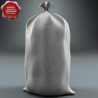 industrial plastic bag 3d model