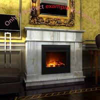 fireplace 17 3d model