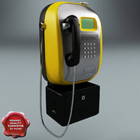 pay phone v2 3d obj