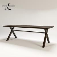 3d model x table