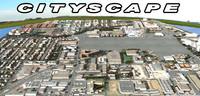 3d model cityscape street scenes