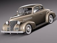chevrolet 1939 coupe antique 3d model