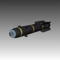 3d model of hellfire missile