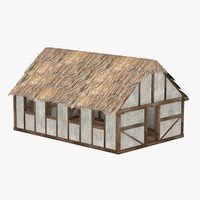 medieval house 3ds