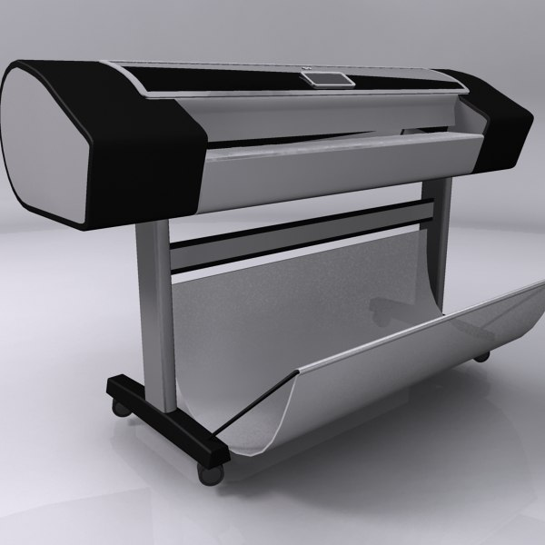 3d model hp designjet z3200 plotter - HP Designjet Z3200... by 3dc2