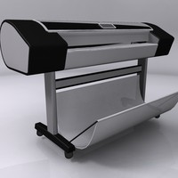 3d model hp designjet z3200 plotter