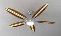3d model of surfboard ceiling fans