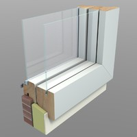 3d model of cut away window