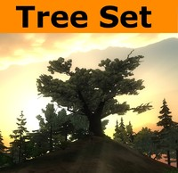 3d model ready tree pack set