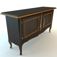 3ds max antique buffet cabinet