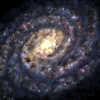 Milky Way Galaxy. Our Space Home.