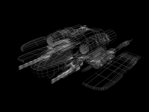 3ds max space fighter - Space Fighter... by Selig05