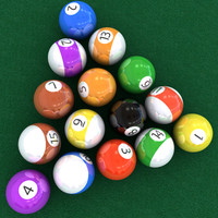 3ds max photorealistic billiard balls